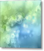 Abstract Blue Green Circles 3 Metal Print