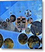 Abstract Painting - Tufts Blue Metal Print