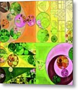 Abstract Painting - Turtle Green Metal Print