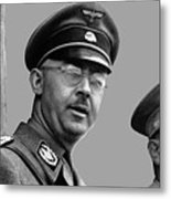 Adolf Hitler And Gestapo Head Heinrich Himmler Watching Parade Of Nazi Stormtroopers 1940-2015 Metal Print