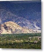 Aerial View Of Leh City Landscape Ladakh Jammu And Kashmir India Metal Print
