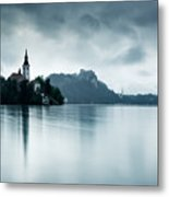 After The Rain At Lake Bled Metal Print