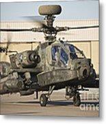 Ah-64d Apache Longbow Taxiing Metal Print