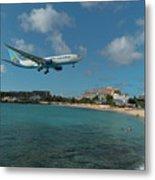 Air Caraibes Landing At St. Maarten Metal Print