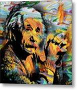 Albert Einstein.. - By Prar Metal Print