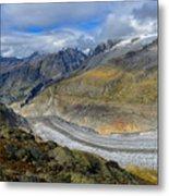 Aletsch Glacier, Switzerland Metal Print