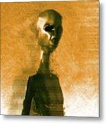 Alien Portrait Metal Print