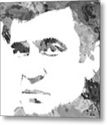 American Legend Johnny Cash Metal Print