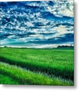 An Iowa Sunset Metal Print