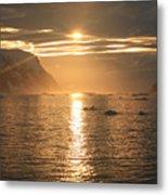 Antarctic Sunset Metal Print