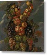 Anthropomorphic Allegory Of Autumn Metal Print