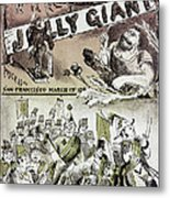 Anti-immigrant Cartoon Metal Print