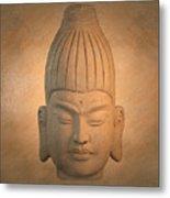 antique oil effect Buddha Burmese.. Metal Print