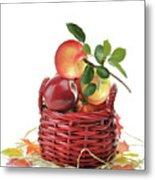 Apples In A Basket  Metal Print