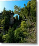 Arch Rock Mackinac Island Metal Print
