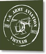 Army Aviation Vietnam Metal Print