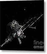 Asteroid Mining Outpost Metal Print