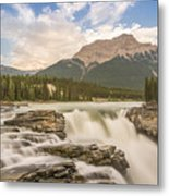 Athabasca Falls Jasper National Park Canada Metal Print