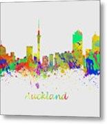 Auckland New Zealand Skyline Metal Print