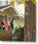 Autumn In Small Town America Metal Print