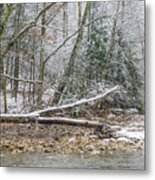 Autumn Snow Williams River  Metal Print