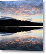 Autumn Sunset, Ladybower Reservoir Derwent Valley Derbyshire Metal Print