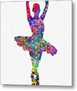 Ballet Dancer-colorful Metal Print