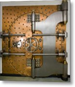 Bank Vault Door Exterior Metal Print