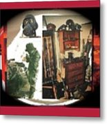 Barry Sadler And Part Of His Weapon's Nazi Memorabilia Collection Collage Tucson Arizona 1971-2013 Metal Print