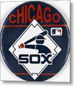 Baseball Button Metal Print