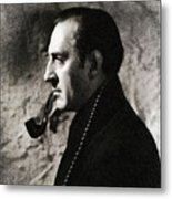 Basil Rathbone As Sherlock Holmes Metal Print