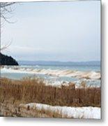 Beach And Ice Metal Print