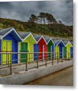Beach Huts 1 Metal Print