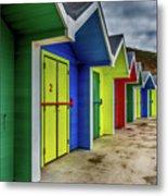 Beach Huts 2 Metal Print