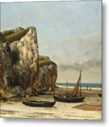 Beach In Normandy Metal Print