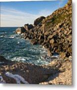 Beach In Sintra Natural Park Metal Print