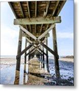 Beach Pier Metal Print