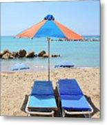 Beach Resort Metal Print