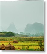 Beautiful Countryside Scenery In Autumn Metal Print