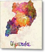 New Hampshire Us State In Watercolor Text Cut Out Metal Print