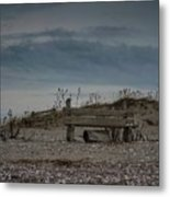 2 Benches Metal Print