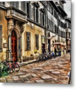 Bicycles In Florence Metal Print