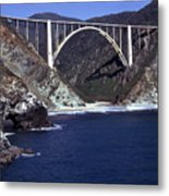 Bixby Creek Aka Rainbow Bridge Bridge Big Sur Photo  Metal Print