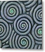 Bleus En Spirale Metal Print by Jacques Vesery