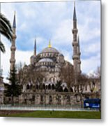 Blue Mosque-- Sultan Ahmed Mosque Metal Print