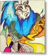 Bluebeard Metal Print