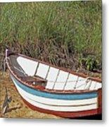 Boat And Anchor Metal Print