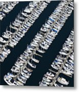 Boats In A Marina Metal Print by Don Mason