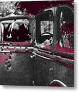 Bonnie And Clyde Death Car South Of Gibsland Toward Sailes Louisiana May 23 1933-2013 Metal Print