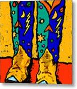 Boots On Yellow Metal Print